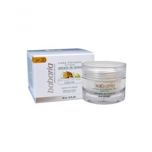 Babaria hydraterende gezichtscreme slakkenextract